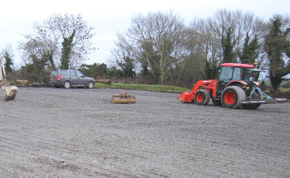 carpark construction uk using kubota tractor