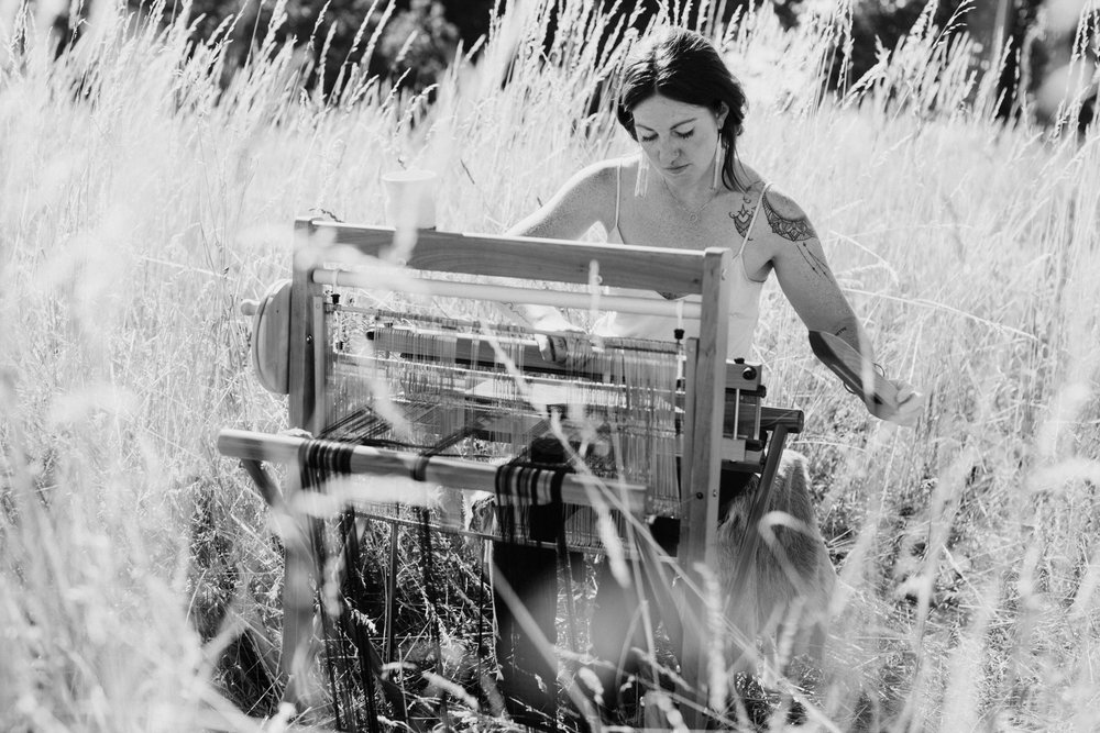 LaLoba - Bronwyn- loom in field-3.jpg