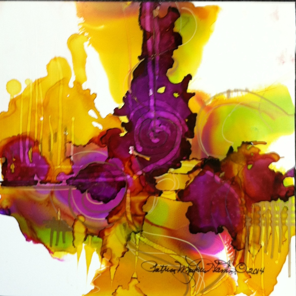 """Do you love color?"" Alcohol ink on Yupo Original sold, prints available $50. Unframed. How can anyone not love bright colors?              010.836"