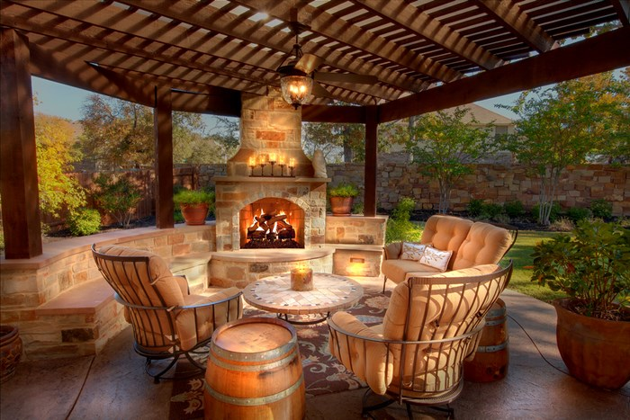 plano outdoor fireplace