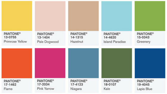 2017 Spring Color Trends by Pantone