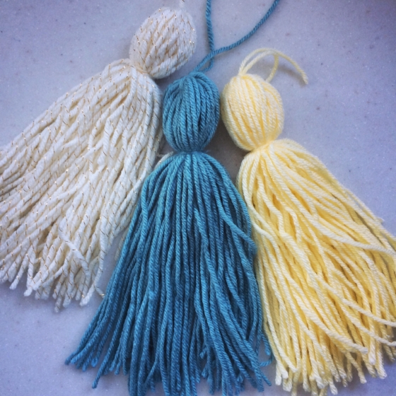 Tassels for the pale dogwood, marigold and island paradise look