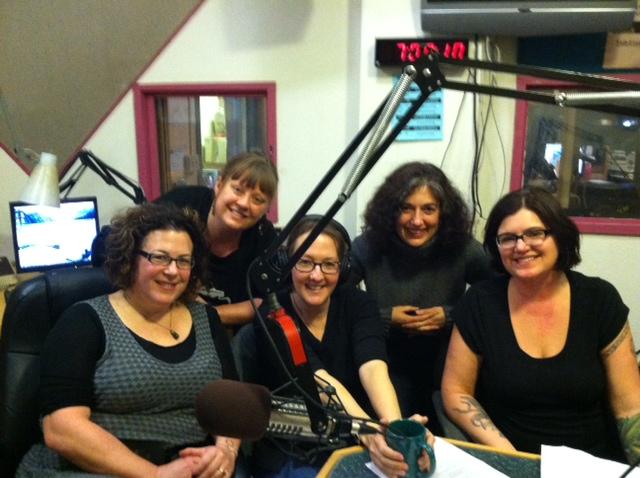 KBOO radio with Voicecatcher crew (Tiah Lindner Raphael, Jennifer Foreman, etc.)