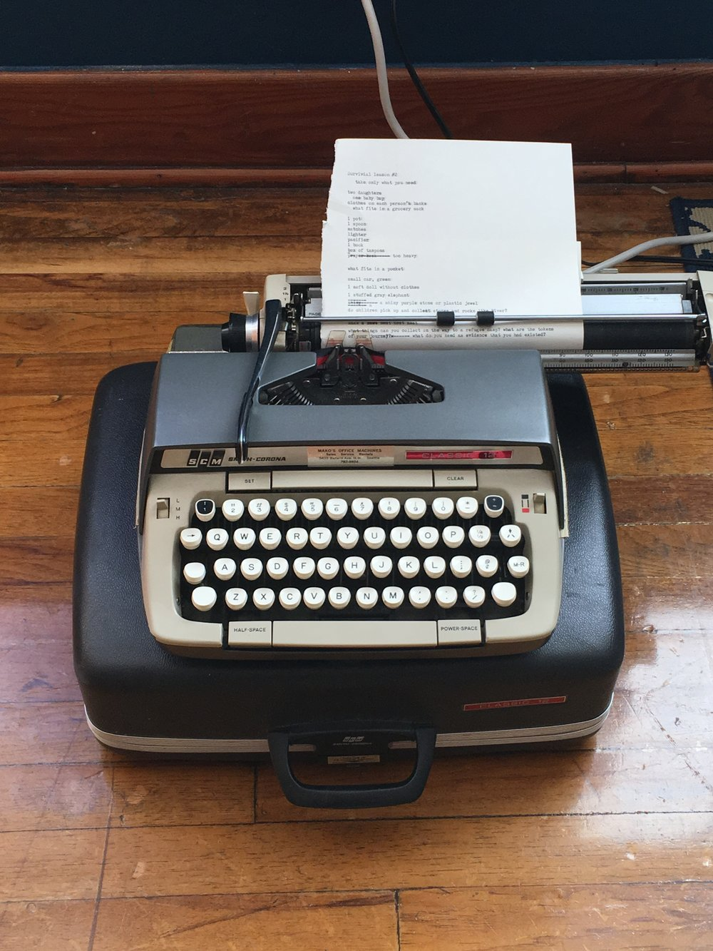obligatory typewriter pic
