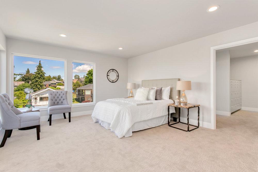 Large master bedroom.
