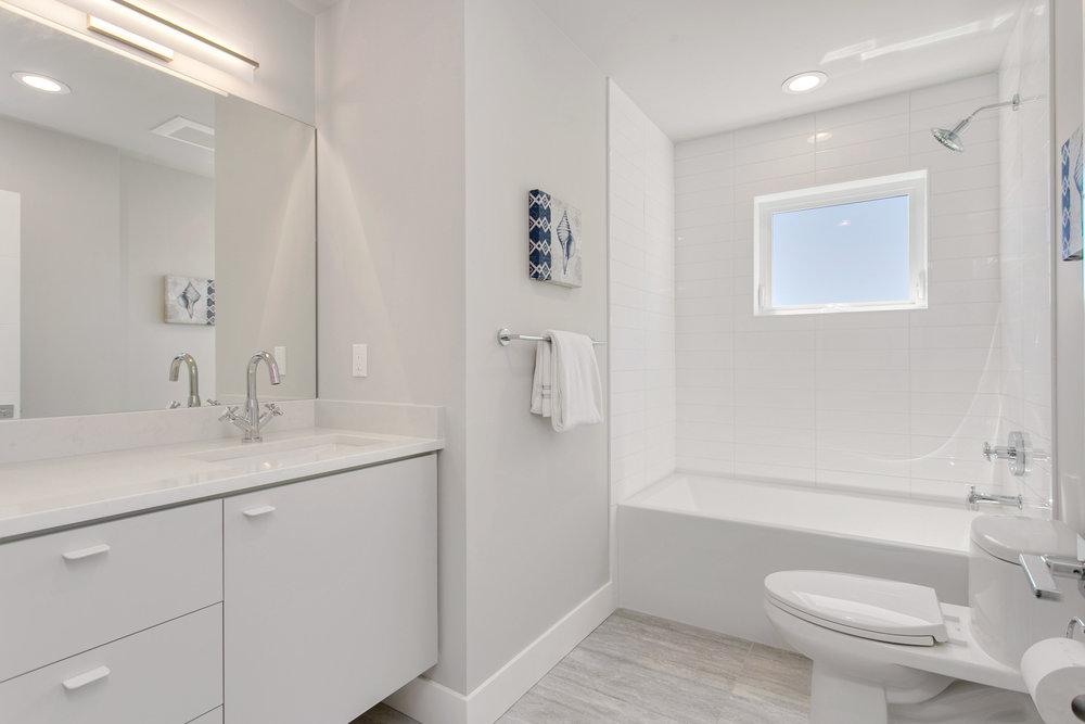 Full bathroom on third floor.