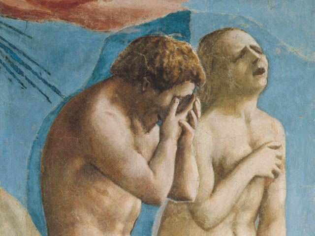 The Expulsion of Adam and Eve by Italian painter Masaccio, 1425)