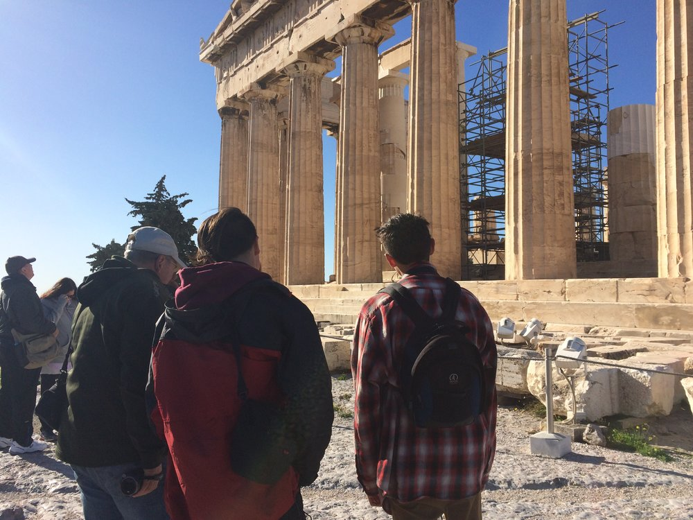 parthenon with boys.JPG