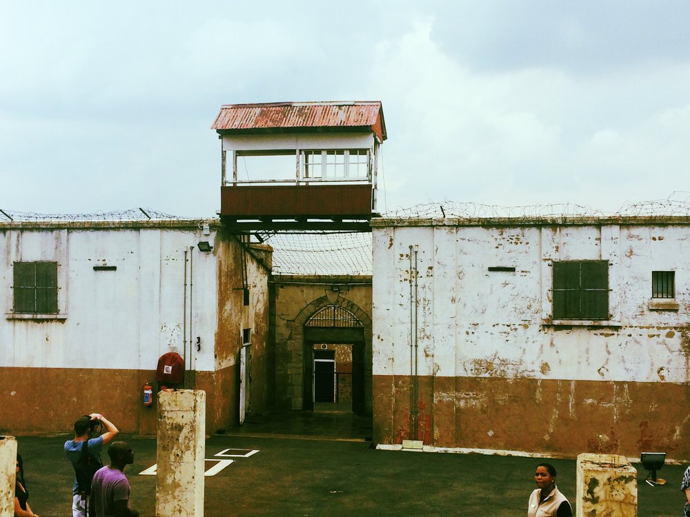 Constitution---prison walls and guard tower.JPG