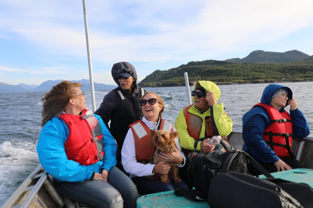 everyone happy in skiff--leslie driving.jpg