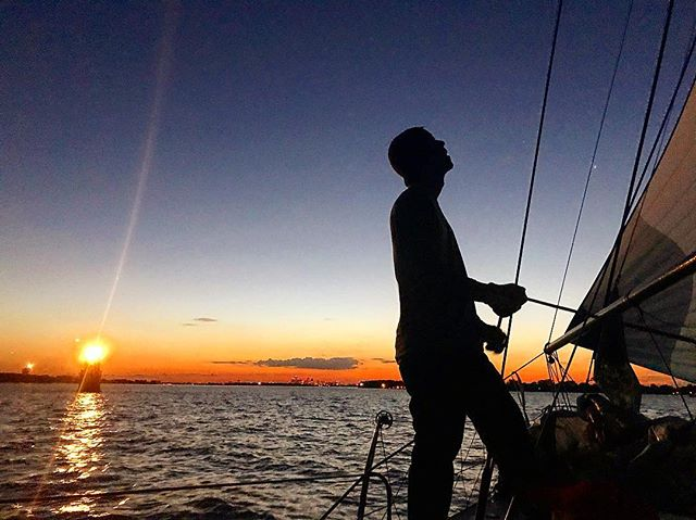 Last spinnaker set of the season (masterfully trimmed by fellow crew Nick). Happy to get line honors on the final race and happier yet still for that sunset. Gonna miss scrambling around the foredeck while heeled over at 35 degrees. When do we kick off the next sailing season? #michigan #sailing #lakestclaire #byc #regatta #detroit #sailboat #sunset