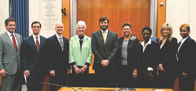 Richmond City Council Members: Jon Baliles (West End), Charles Samuels (North Central), Chris Hilbert (Northside), Kathy Graziano (Southwest), Parker Agelasto (Central), Ellen Robertson (Gateway), Cynthia Newbille (East End), Reva Trammell (Southside), and Michelle Mosby (South Central)