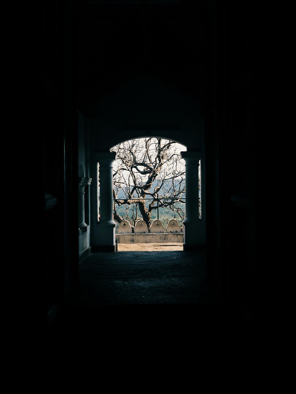 Light enters temple.