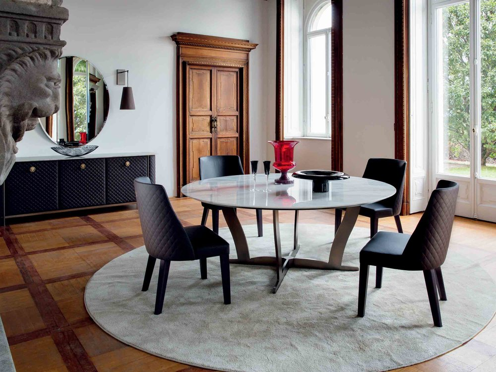 Bogart Dining Table + Ingrid Chair + Penelope Side Board