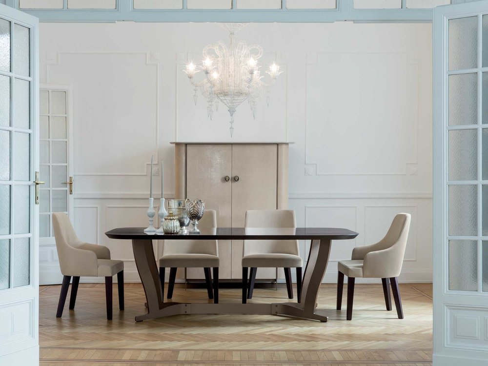 Humphrey Dining Table + Allen Chair + Alexander Side Board
