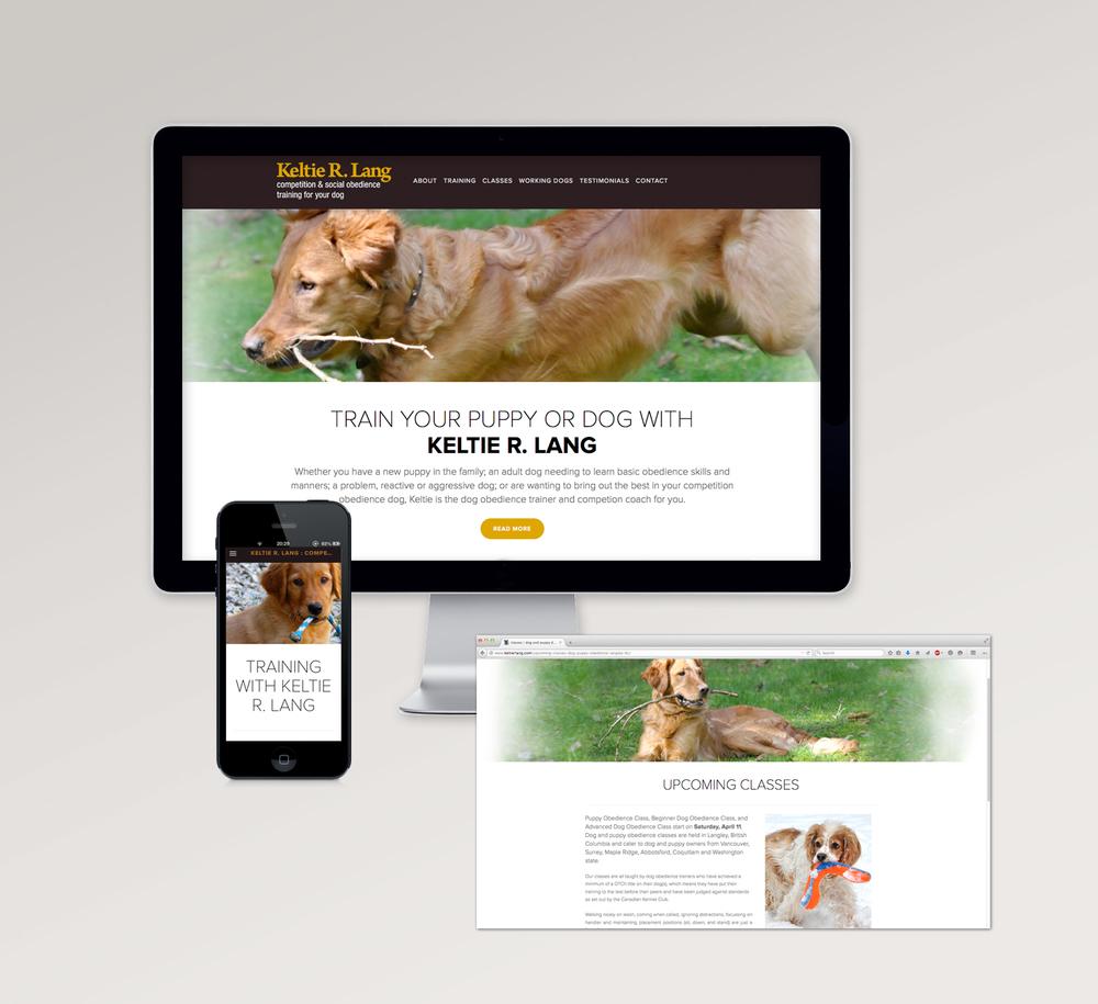 <Strong>Keltie R. Lang</strong> website design