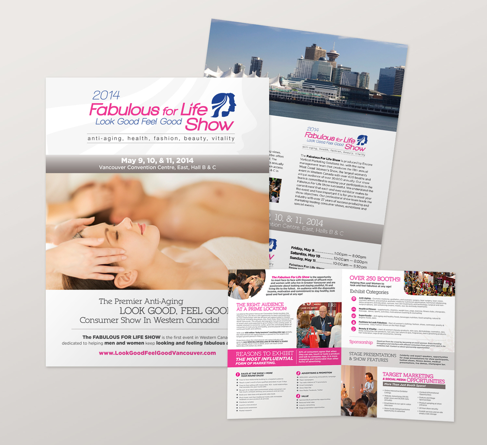 <strong>Fabulous for Life Show</strong> half-fold vendor information brochure