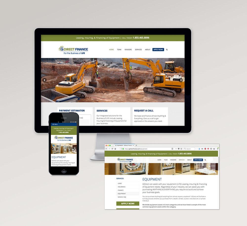 <strong>GDirect Finance</strong> website design