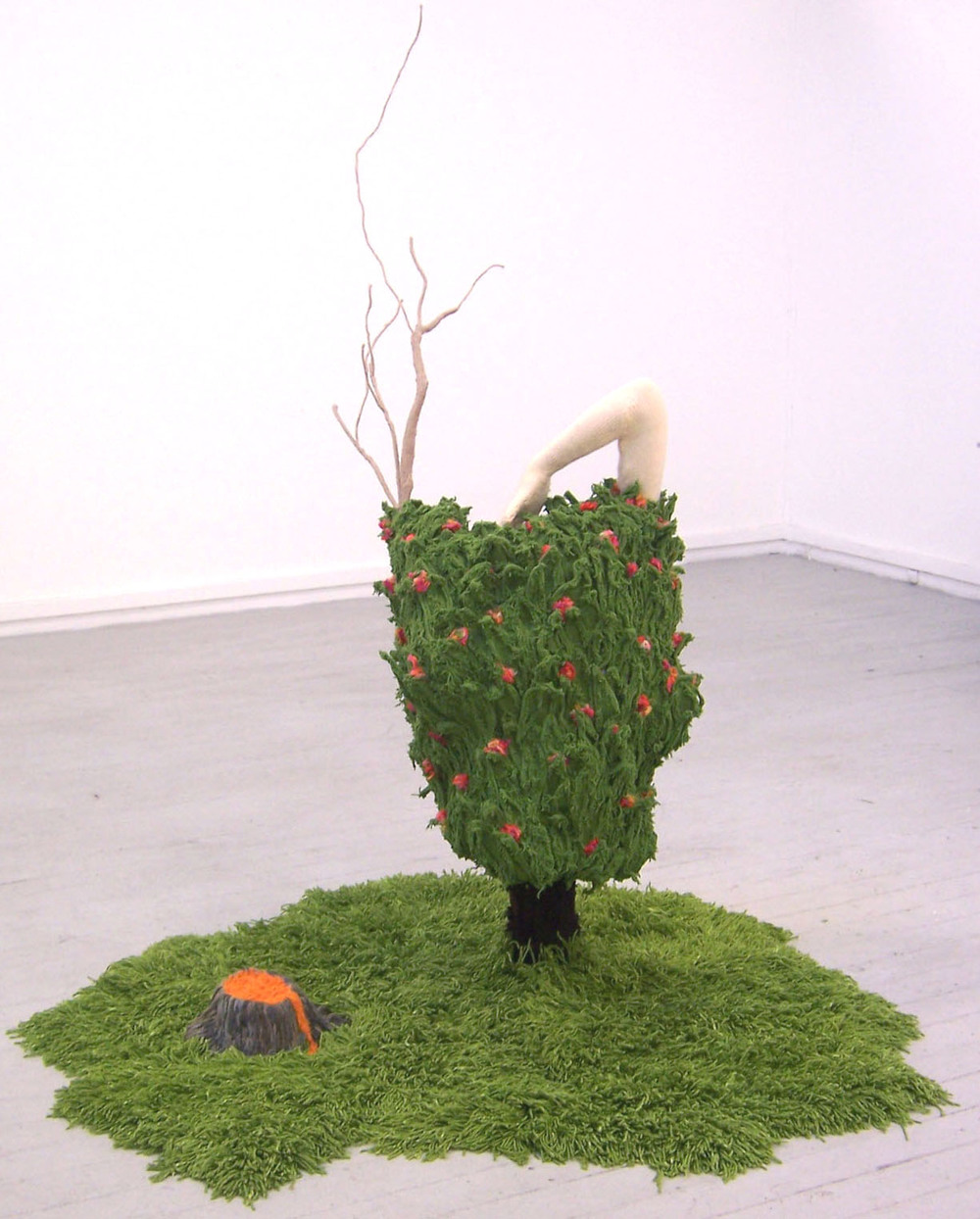 Kate Just, My Daphne, 2007 Wool, acrylic, clay, fibreglass, plastic, timber, papier mache, expanding foam, glue 160 x 80 x 80cm Documentation: Kate Just