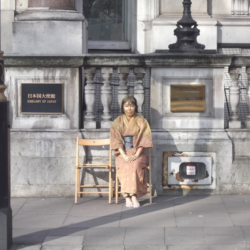 "Yoshiko Shimada Becoming a Statue of a Comfort Woman, 2012   Digital video, 8 minutes          Normal   0             false   false   false     EN-AU   X-NONE   X-NONE                                                                                                                                                                                                                                                                                                                                                                                                                                                                                                                                                                                                                                                                                                                                                                                                                                                               /* Style Definitions */  table.MsoNormalTable {mso-style-name:""Table Normal""; mso-tstyle-rowband-size:0; mso-tstyle-colband-size:0; mso-style-noshow:yes; mso-style-priority:99; mso-style-parent:""""; mso-padding-alt:0cm 5.4pt 0cm 5.4pt; mso-para-margin-top:0cm; mso-para-margin-right:0cm; mso-para-margin-bottom:10.0pt; mso-para-margin-left:0cm; line-height:115%; mso-pagination:widow-orphan; font-size:11.0pt; font-family:""Calibri"",sans-serif; mso-ascii-font-family:Calibri; mso-ascii-theme-font:minor-latin; mso-hansi-font-family:Calibri; mso-hansi-theme-font:minor-latin; mso-fareast-language:EN-US;}"
