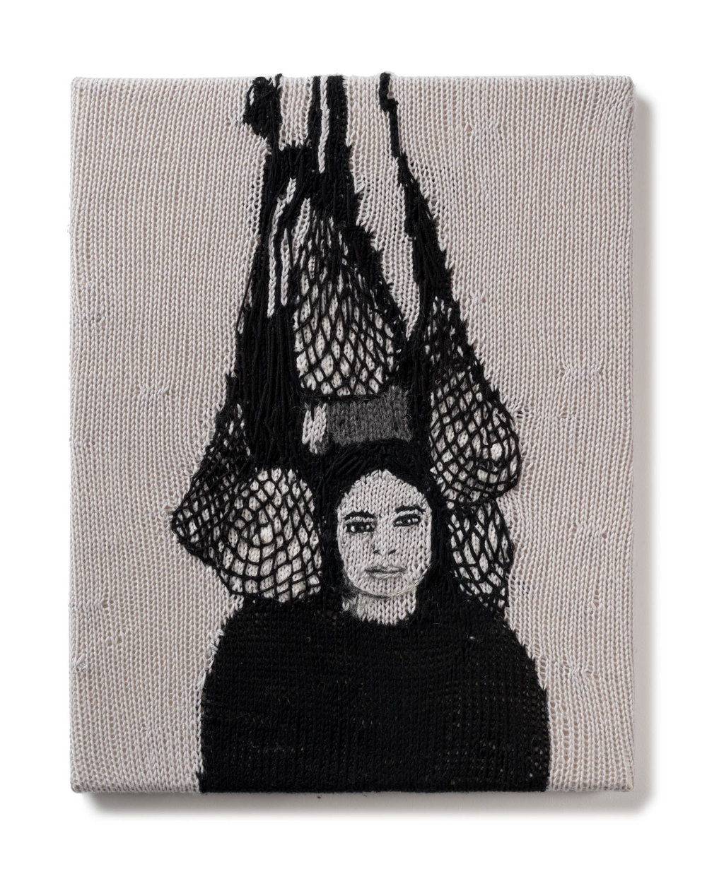 Kate Just, Feminist Fan # 28   (Eva Hesse photographed by Hermann Landshoff), 2016