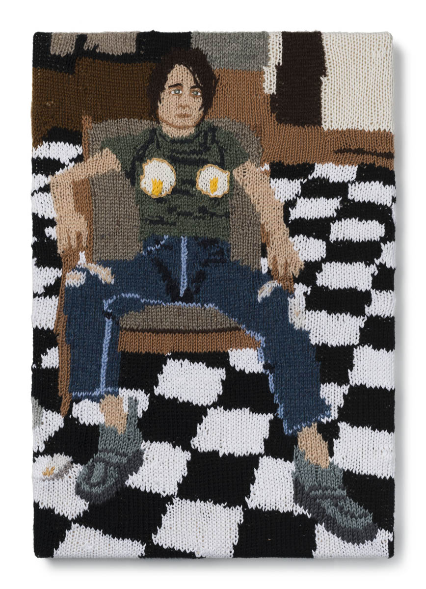 Kate Just,  Feminist Fan #9 (Sarah Lucas, Self Portrait with Fried Eggs, 1996), Version 2, 2015