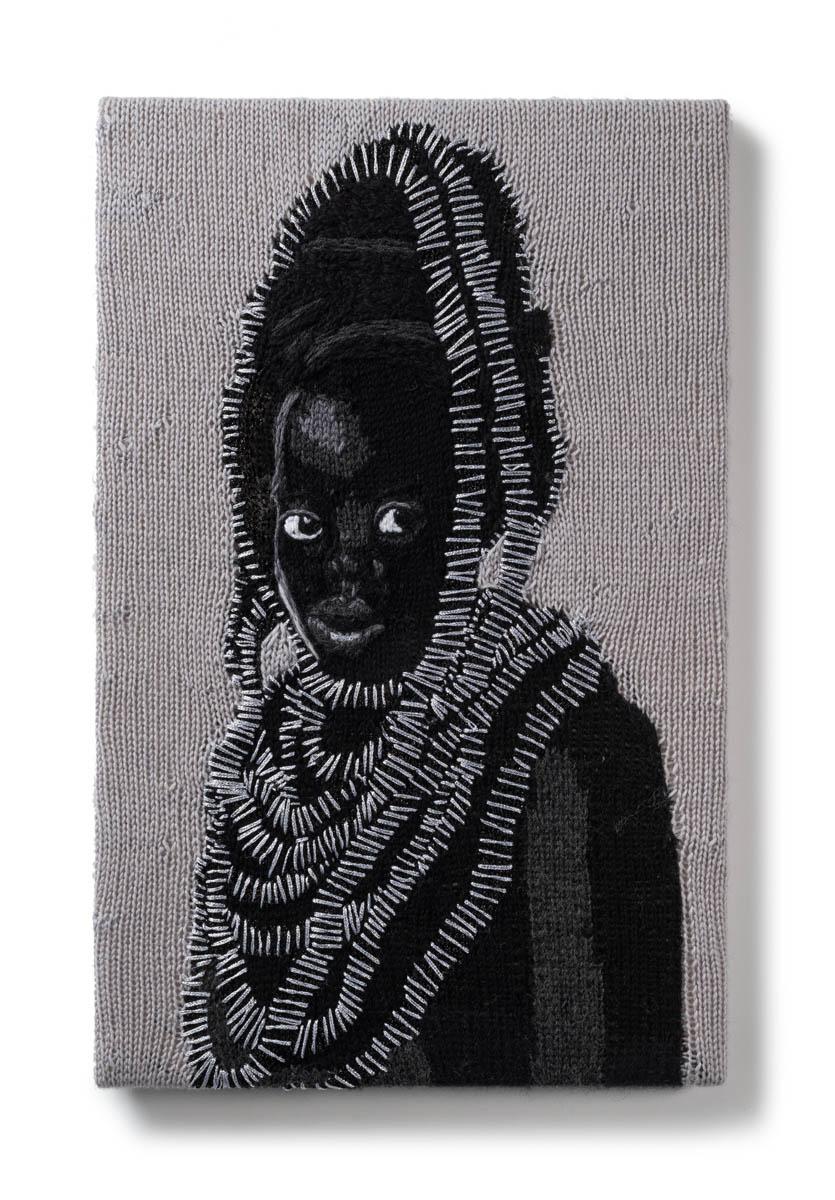 Kate Just, Feminist Fan #37 (Zanele Muholi, Somnyama Ngonyama Series: Zinathi I, Johannesburg. 2015), 2017