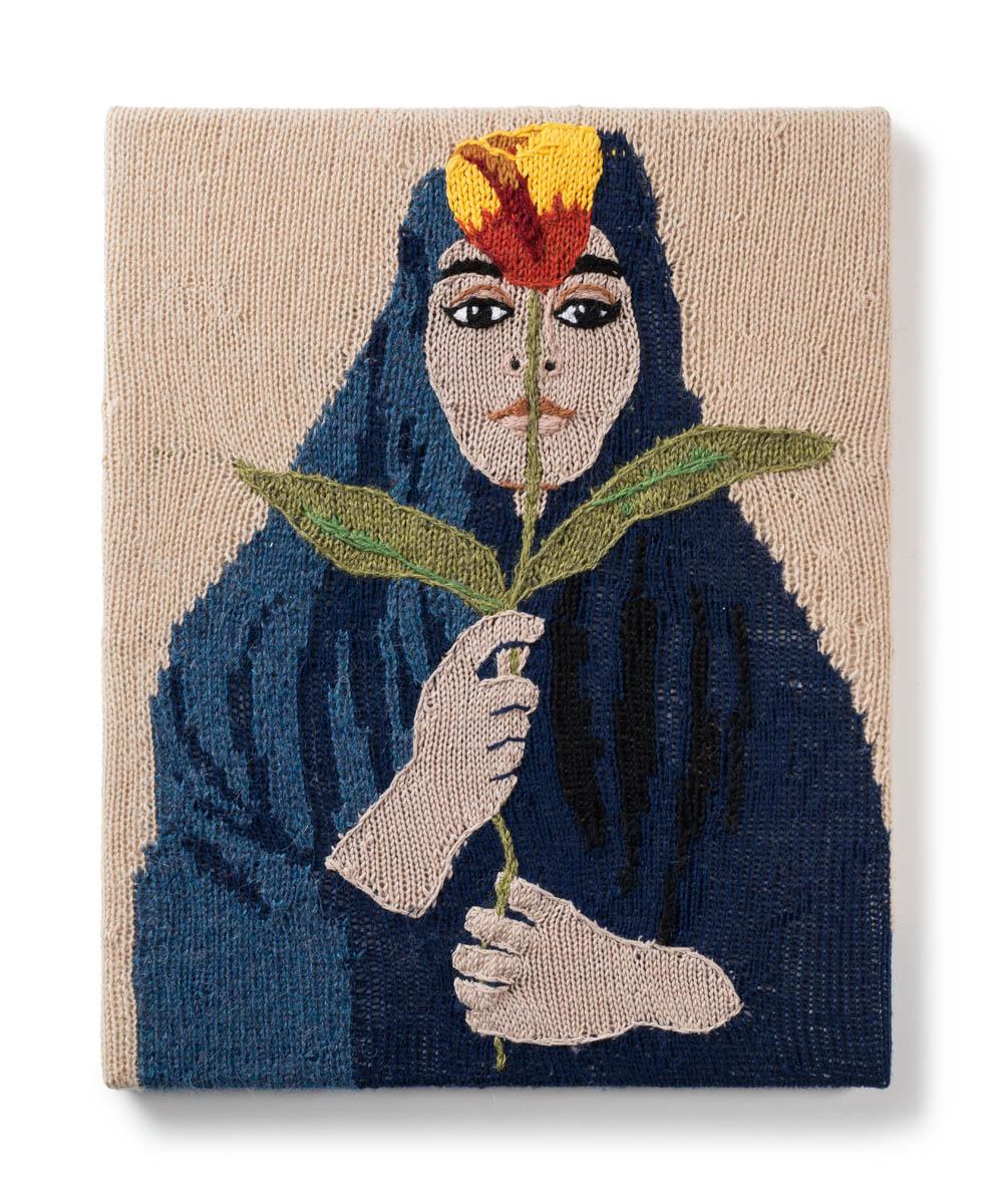 Kate Just, Feminist Fan #38 (Shirin Neshat, Untitled, 1995) 2017