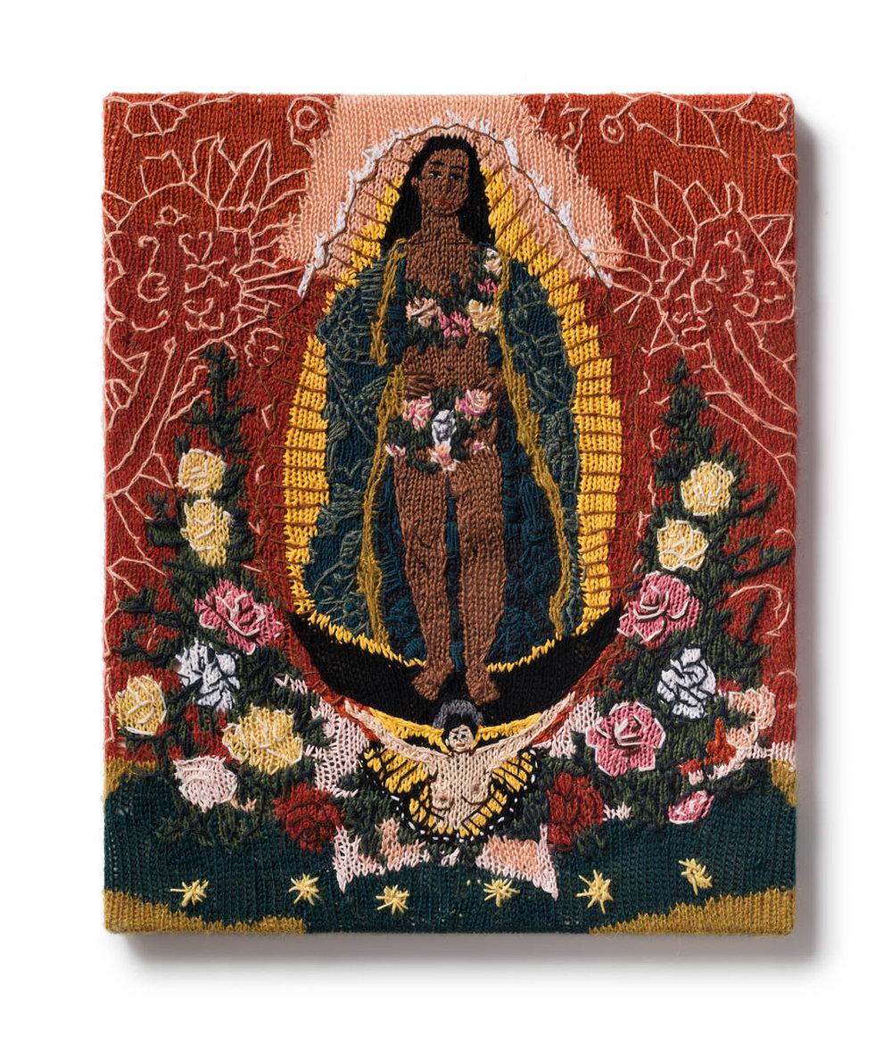 Kate Just, Feminist Fan #39 (Alma Lopez, Our Lady, 1999), 2017