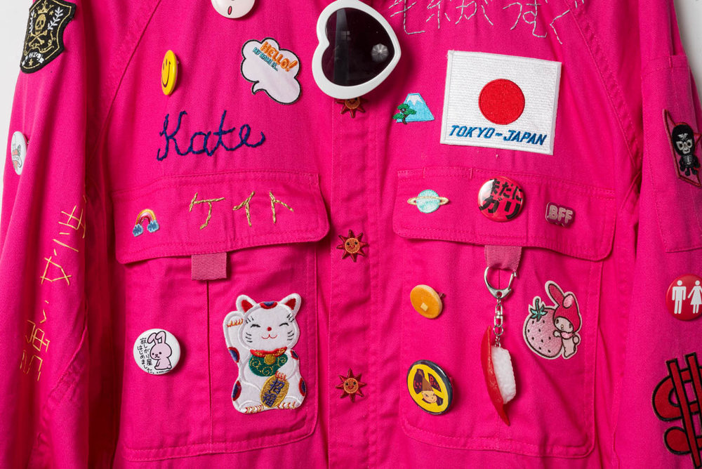 Kate Just, Feminist Fan in Japan Uniform (detail), 2016, Photo: Simon Strong