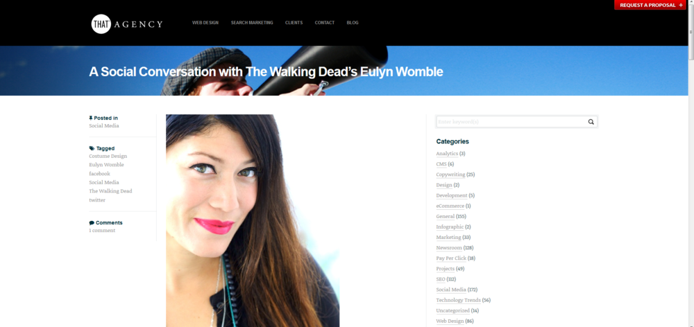 A Social Conversation with The Walking Dead's Eulyn Womble