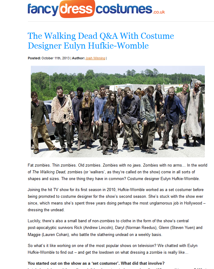 The Walking Dead Q&A With Costume Designer Eulyn Hufkie-Womble