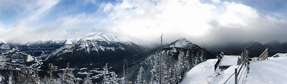 The peak of Sulfur Mountain, overlooking Banff.