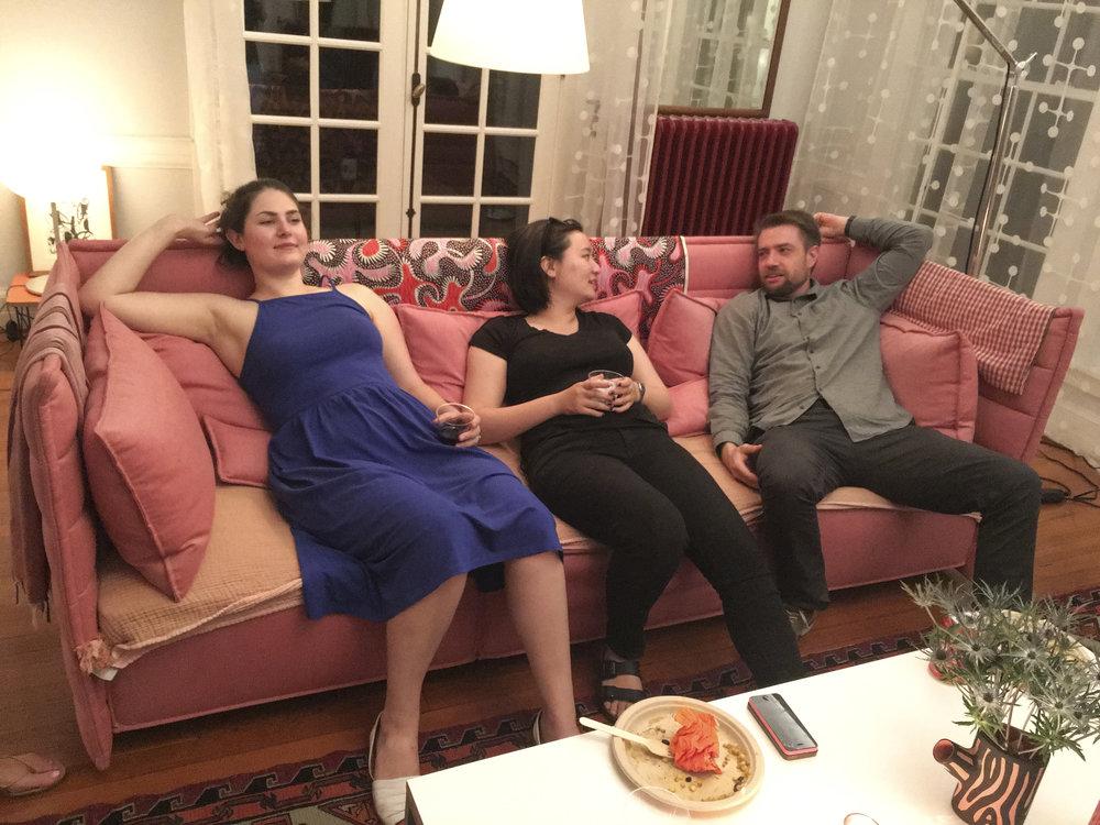 and Ellen's parties after workshops.