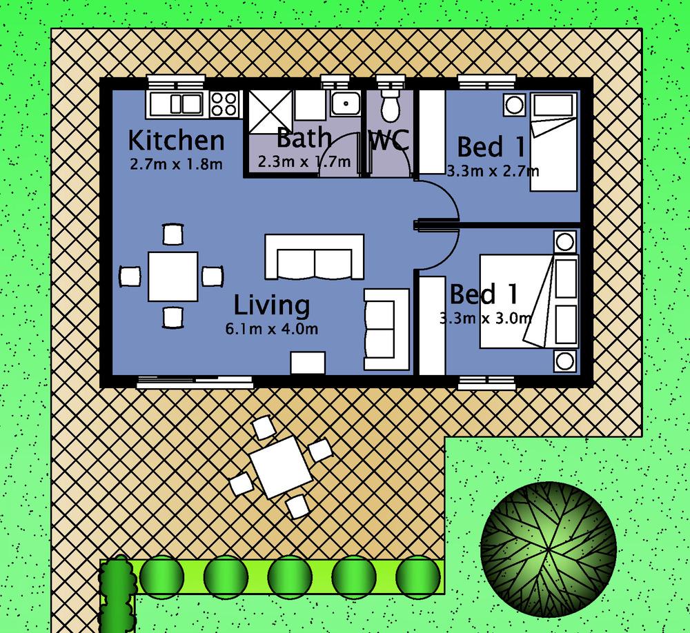 Granny flat design plan