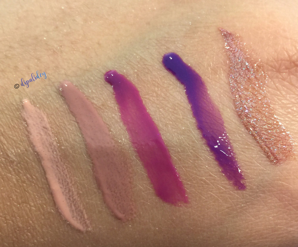 L to R: Sugar Sugar, Skin Deep, Raspberry Berret, Boys Don't Cry and Ch-Ch-Changes