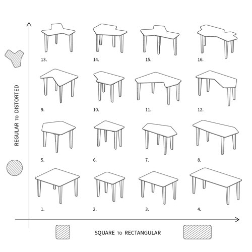 Kevin Daly   16 Tables, 1 Sheet of Plywood  click to download the CNC ready cut file
