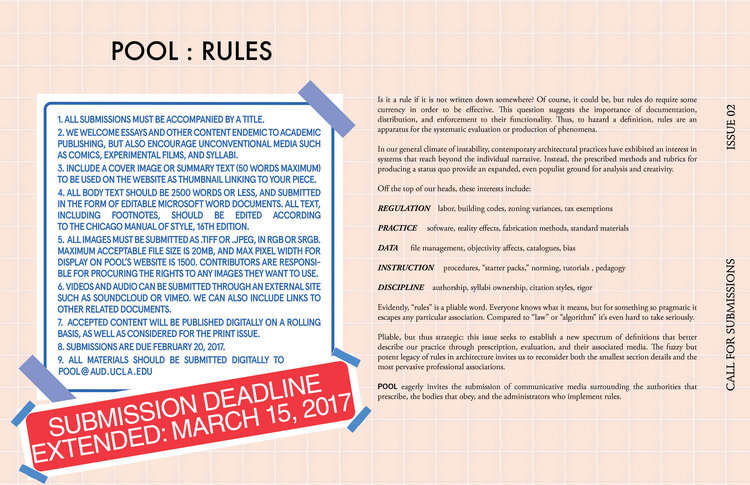Pool Call For Submissionsrules