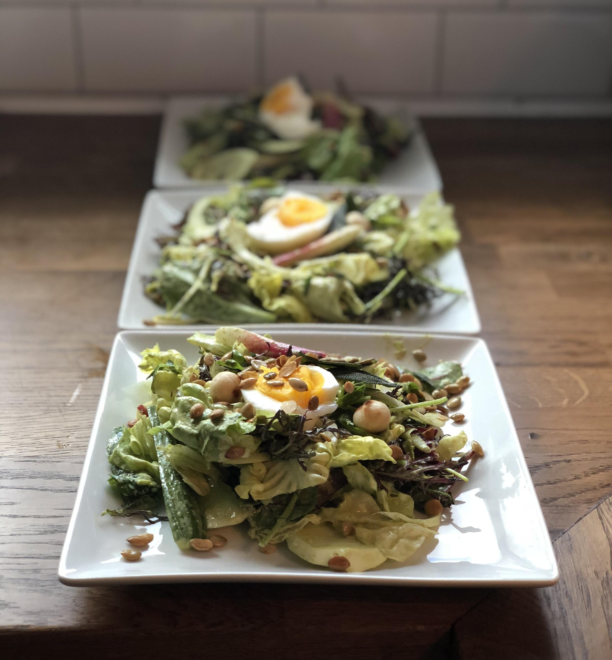 Farmers Market Salad & Fresh Basil Dressing