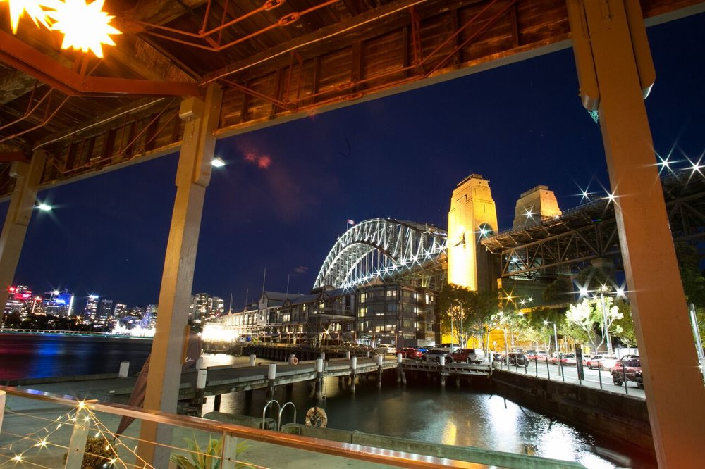 View by Sydney is located on the historic finger wharf Pier 2, Walsh Bay and resides at the foot of the Sydney Harbour Bridge. View by Sydney boasts breathtaking views of the harbour, Luna Park and Sydney's cityscape.