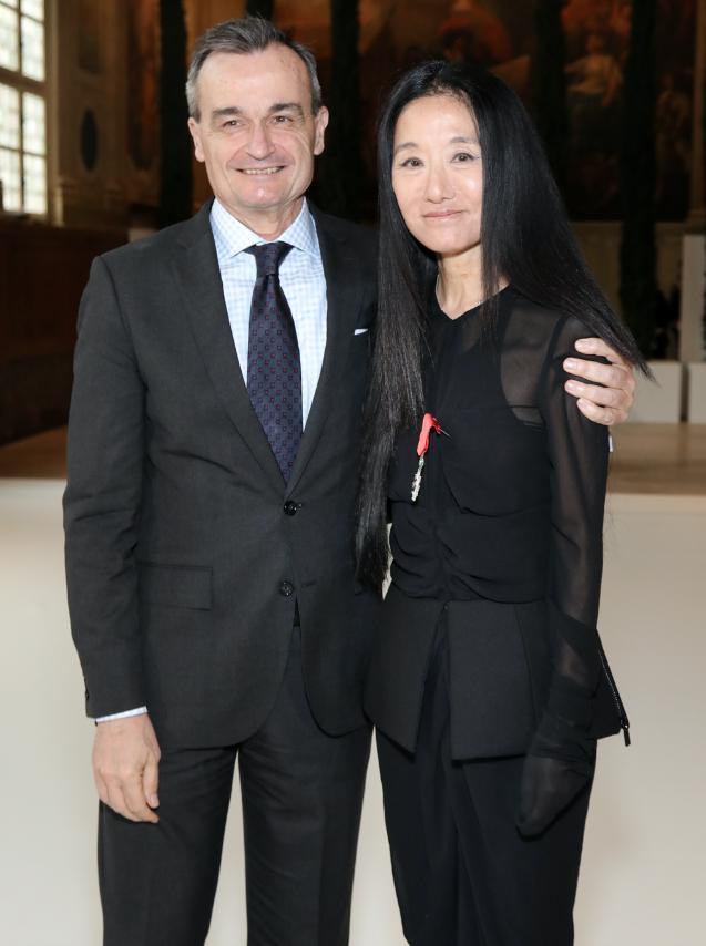Ambassador of France to the United States Gérard Araud & Vera Wang (Photo: François Goizé)
