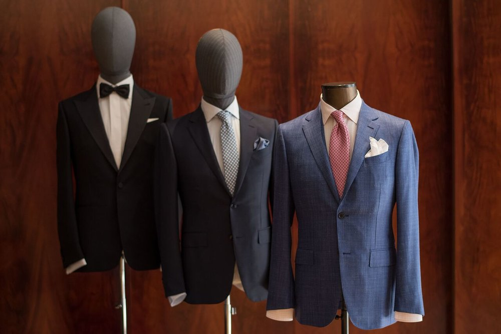 Ermenegildo Zegna's menswear was also featured at the afternoon high tea.