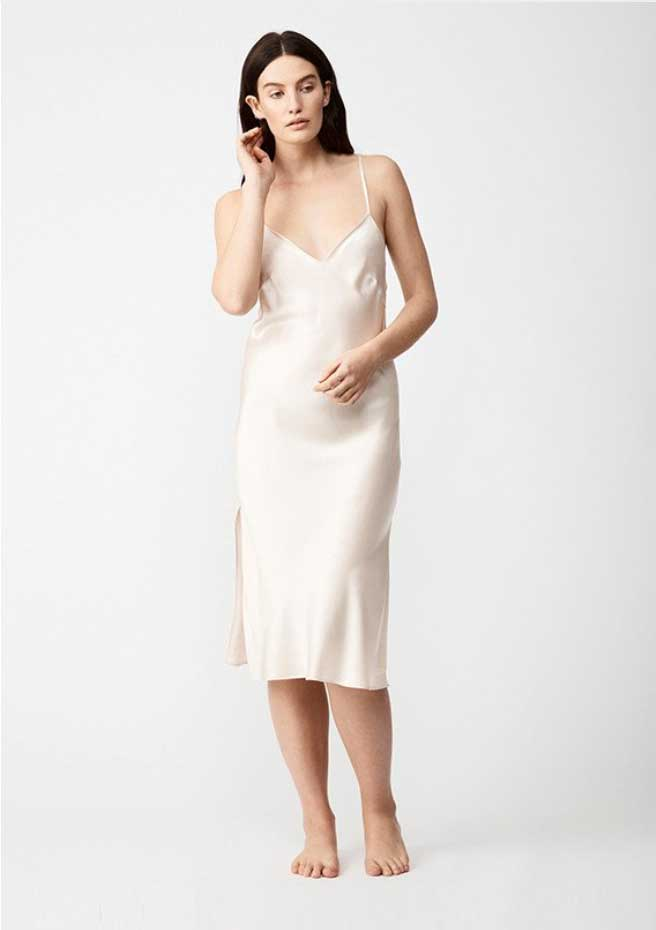 Natalija the Label – Silk Slip in Champagne - $99.00 (on sale) This slim fitting slip will make any bride feel like a princess on her wedding night, and every night thereafter - because once you put on this 100% pure silk nightgown, you won't want to take it off!