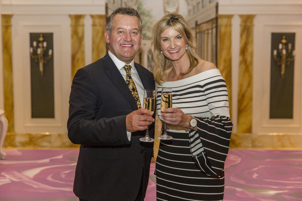 Paul Burrell with planner and stylist Alysia Bridger.