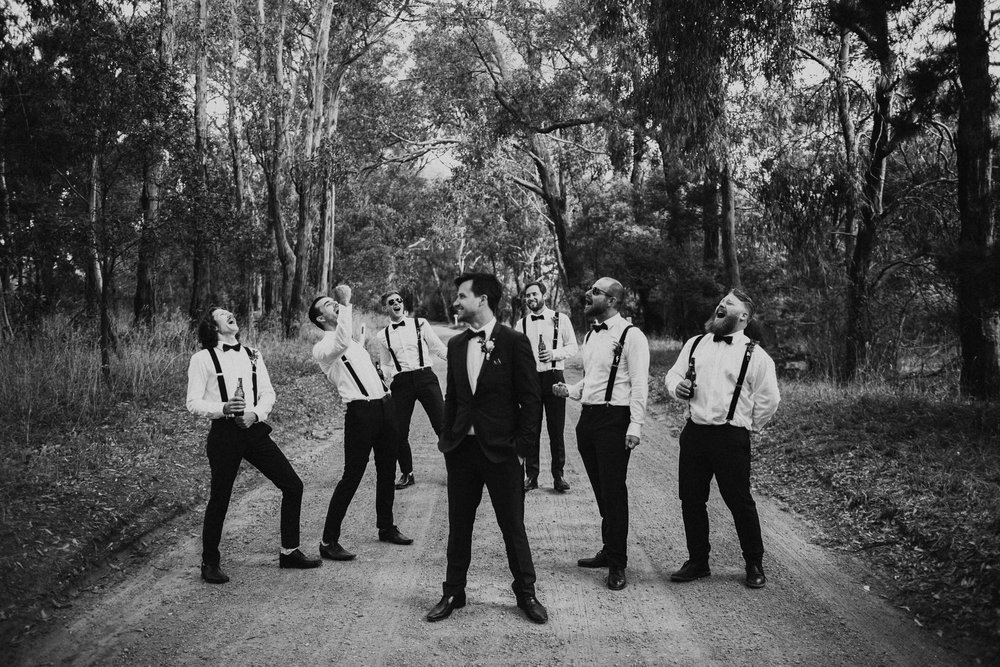 The groomsmen made the afternoon even more memorable with a spontaneous rendition of a song by The Backstreet Boys.
