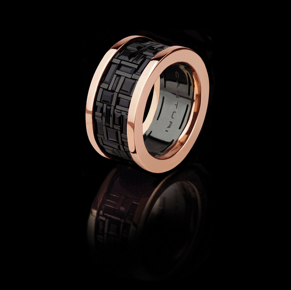 CCG 124 - Cubism wide black sapphire ring in pink gold by Stefano Canturi.jpg
