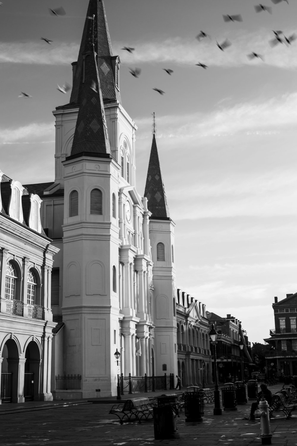 St. Louis cathedral basks in morning's light.