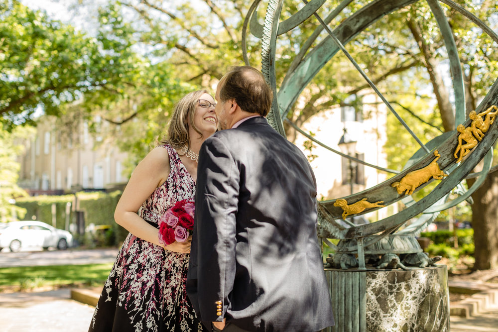 savannah elopement parish photo co elope savannah service square downtown brei olivier first kiss 7