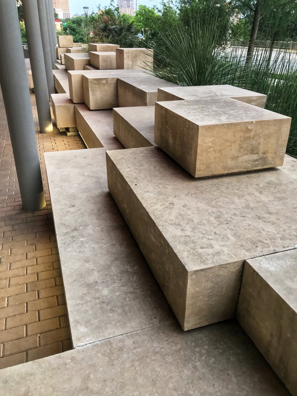 Geometric interpretations of the native, layered stone formations that are everywhere around Austin. It's what the Hill Country is made of.