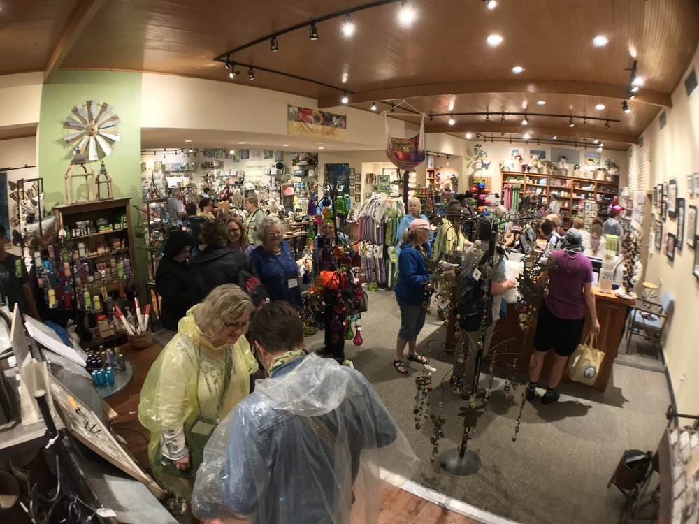 At some point, each of the 93 members of the Garden Bloggers group made it in and out of the Wildflower Center gift shop, during our waiting out the deluge.